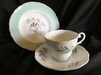 ROYAL STANDARD AND TUSCAN Seafern TRIO TEA CUP SAUCER AND SIDE PLATE