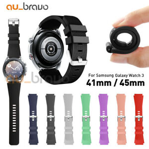 For Samsung Galaxy Watch 3 41mm SM-R850 45mm Silicone Bracelet Sports Band Strap