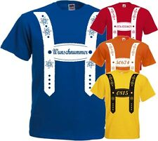 Oktoberfest  TShirt mit Wunschnummer Lederhose Gruppen Shirt Team Bräutigam Fun