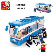 Sluban B0330 City Single-Deck Bus Car Figure Building Block Toy lego Compatible