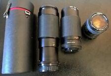 Job Lot 3x Camera Lenses - Miranda, Super Paragon & Cimko + 2x Hoya Filters