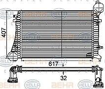 Hella 8ML376746-131 Intercooler VW Passat 1.9TDI 05-10