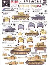 Star Decals 1/35 GERMAN AFRIKA MIX #2 PzKpfw I Tanks & Tiger I Tanks
