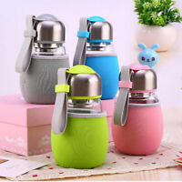 New 400ML Glass Water Bottle Cup Travel Sports Mug/ Tea Filter Protective