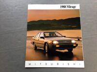 1988 Mitsubishi Mirage and Turbo 14-page Original Car Sales Brochure