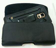 FOR SAMSUNG GALAXY S4/S3 BELT CLIP LEATHER HOLSTER POUCH FITS A SUPCASE ON PHONE