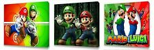 MARIO BROS II Kids canvas wall art plaque pictures set of three pack
