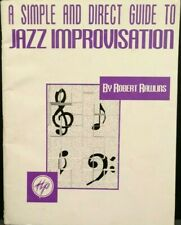 A Simple Direct Guide Jazz Improvisation Piano Instructional Be Bop Style T86
