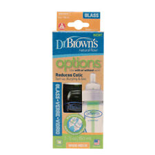Dr Brown's 2 X 270ml Options Glass Baby Bottle Wide Neck (2 Bottles)