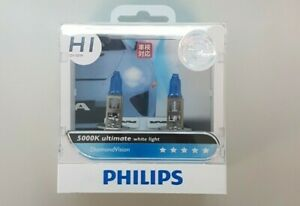 PHILIPS LIGHT BULBS - H4 5000K DIAMOND VISION - WHITE LIGHT
