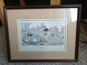"Signed Henry Brewis Print framed limited edition  ""gone to earth"""