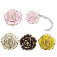 1Pc Rose pattern folding bag handbag tote table hanger hook holder purse hanger