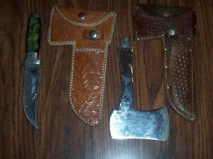 Vintage Case XX Knife/Axe Combo