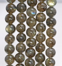 12MM BROWN LABRADORITE GEMSTONE ROUND LOOSE BEADS 15.5""