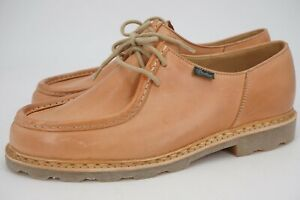 NEW WITH BOX | $565 PARABOOT MICHAEL 43.5 10.5 VEGETAL CAMEL LEATHER DERBY TAN