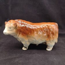 More details for vintage hereford bull figure ornament pottery farmyard animal collectable gift