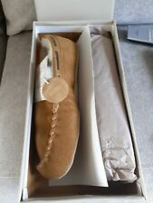 New Sz 6 Real Suede Ladies Slippers Moccasin John Lewis BNWT