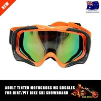 Adult Unisex Motocross Dirt Bike Motorcycle Raider ATV Goggles Goggle Orange