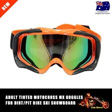 Orange Frame Tinted lens Motocross Off-Road Dirt ATV Quad Gokart Bike GOGGLES