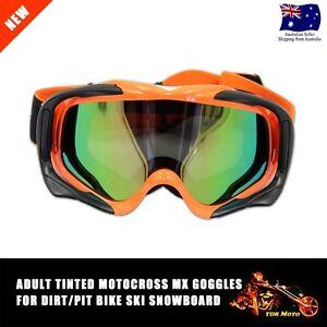 Orange Motorcycle Dirt Bike Motocross ATV MX Off-Road safety Goggles Eyewear