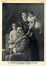Der Großherzog Ernst Ludwig und die Großherzogin von Hessen mit ihren Söhnen1910