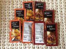 Sweet Chilli Sauce 25 AND BBQ Sauce 25 Sachets 10g Portion control