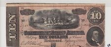 $10 1864 Confederate Currency Csa Lot 11