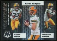 2020 Panini Mosaic Aaron Rodgers Flea Flicker Davante Adams Aaron Jones Packers