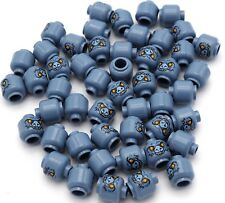 Lego 50 New Sand Blue Minifigure Heads Alien Chima Bat with Yellow Eyes Parts