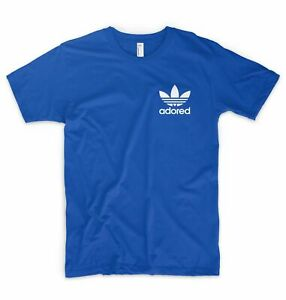 Adored Pocket Small Logo Chest T Shirt Stone Roses Dance Rave Festival
