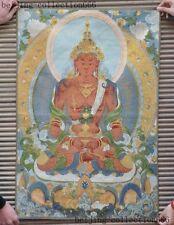 "36""Tibet Silk Cloth Buddhism thangka Tara Vajrapani Buddha Gods Statue Tangka"