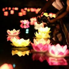LED Lights Solar Powered Fountain Water Pool Night Floating Garden Rotating Lamp