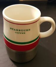 Starbucks Mug 2006 Urban Desk Cup White Red Green Stainless Steel Cup 14oz