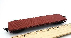HO Scale Model Train SP40890 Dark Red FLAT CAR w/ SPRUNG TRUCKS