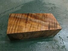 WB-CURLY!!!  WALNUT BURL DELUXE  KNIFE BLOCK/SCALES/ CALLS/ PEN BLANKS--W--D--3