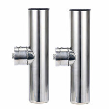 2X Stainless Steel Fishing Rod Holders Clamp On Rails Mounting 22mm to 26mm Boat