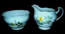 ROYAL VALE Yellow Buttercup RIDGWAY Bone China Jug + Sugar Bowl c1960