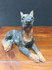 Vintage Stone Critter Littles Signed Doberman Figurine 1988