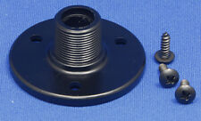 """BLACK Threaded Microphone Table/Surface Mount Flange - 5/8""""-27 Male Thread"""