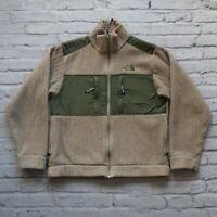 Vintage North Face Logo Fleece Jacket Mens Size M Brown Made in USA