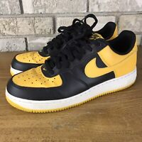 NIKE Air Force 1 AF1 Sneakers Shoes black/gold /white 820266-011 Mens Size 9.5