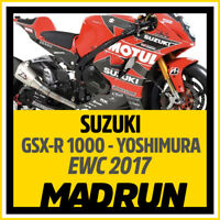 Kit Adesivi Suzuki GSX-R 1000 Team Yoshimura 2017 EWC - High Quality Decals