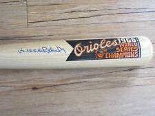 Brooks Robinson Autograph Baseball Bat Baltimore Orioles 66 World Series Champs