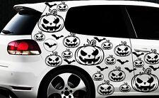 99x Hexe Sterne Auto Aufkleber Wandtattoo Hexenkutsche Gothic Halloween Kürbis