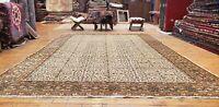 Beautiful Antique 1930's Wool Pile, Natural Dye Legendary Bunyan Rug 7x10ft