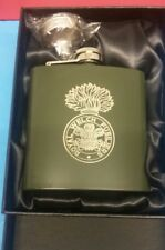 Royal Welch Fusiliers 6oz Stainless Steel Hip Flask, Engraved with Logo