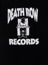 FREE SAME DAY SHIPPING Classic DEATH ROW Records Logo Black SHIRT LARGE