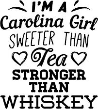 I'm a Carolina Girl ... Sticker (available in several vinyl colors)