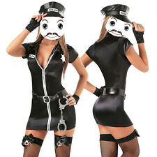 Sexy Womens Police Cop Uniform Officer Costume Lady Cosplay Fancy Dress Clubwear