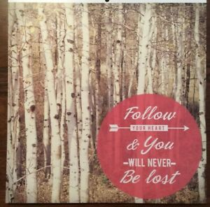 12x12 Follow Your Heart Gloss / Varnish & Foil Scrapbooking Paper